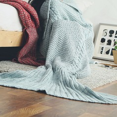 Warmth Crochet Knitted Mermaid Tail Blanket,180*90 (Sold in a single)