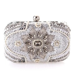 Unique Crystal/ Rhinestone/Rhinestone/Imitation Pearl Clutches/Bridal Purse (012092365)