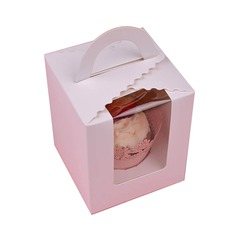 Lovely Basket Card Paper Cupcake Boxes