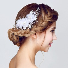 Charming Crystal/Imitation Pearls/Artificial Silk Flowers & Feathers