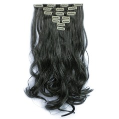 Los synthetisch haar Clip-in Haarextensies 7PCS 130g