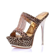 Women's Cloth Stiletto Heel Sandals Platform Slippers shoes
