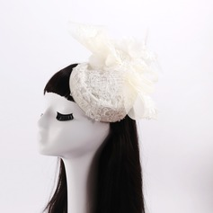 Ladies' Beautiful Lace/Imitation Pearls With Bowknot Fascinators