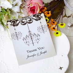 Personalized Flower Design Paper Thank You Cards