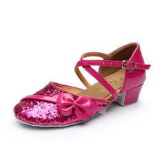 Women's Kids' Sparkling Glitter Heels Modern With Ankle Strap Dance Shoes