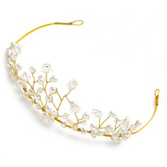 Simple Alloy/Imitation Pearls Tiaras