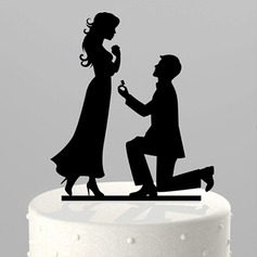 "Figurine ""Marry Me"" Acrylic Wedding Cake Topper"