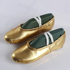 Women's Leatherette Flats Ballet Belly Dance Shoes