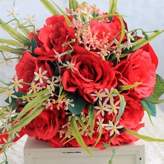Gorgeous Hand-tied Ribbon/Artificial Silk Bridal Bouquets