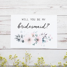Bridesmaid Gifts - Beautiful Classic Elegant Paper Wedding Day Card