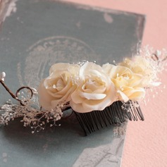 Ladies Beautiful Silk Flower Combs & Barrettes
