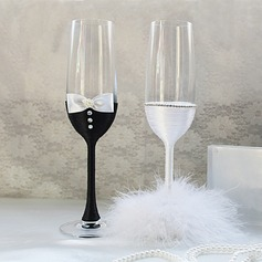 Getting Together Glass Toasting Flutes (Set Of 2) (126071700)