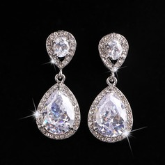 Simple Alloy Rhinestones With Rhinestone Ladies' Fashion Earrings (137106206)