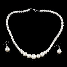 Exquisite Alloy With Imitation Pearl Women's Jewelry Sets (137045943)