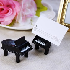 Piano Design Resin Place Card Holders