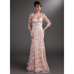Trumpet/Mermaid Sweetheart Floor-Length Lace Mother of the Bride Dress With Ruffle Beading Sequins