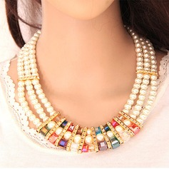 Shining Alloy Rhinestones With Imitation Pearl Ladies' Jewelry Sets