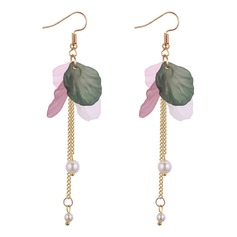 Fashional Imitation Pearls Acrylic Copper Ladies' Fashion Earrings