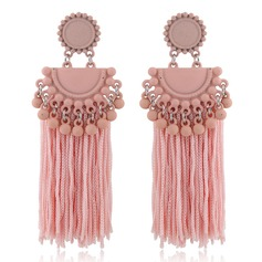 Unique Alloy Braided Rope Women's Fashion Earrings