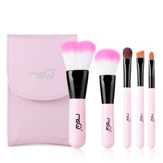Pretty 5Pcs Pink Pouch Makeup Supply With Mirror(046074630)