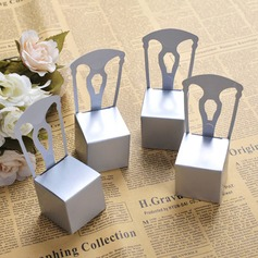 50th Anniversary Silver Chair Favor Box and Place Card Holder