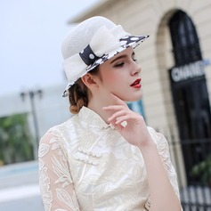 Ladies' Beautiful/Fashion/Glamourous Cambric With Bowknot Beach/Sun Hats