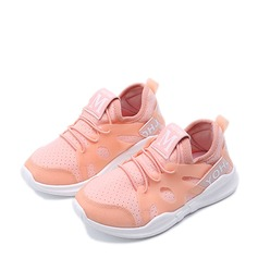Girl's Round Toe Closed Toe Mesh Flats Sneakers & Athletic With Lace-up