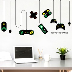 Game handle decorative chandelier wall sticker (Sold in a single piece)
