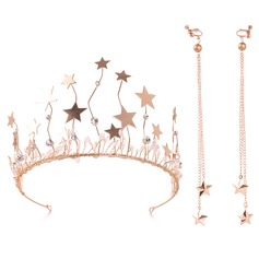 Ladies Elegant Alloy Tiaras (Set of 2)