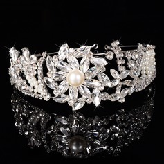 Ladies Gorgeous Rhinestone/Alloy/Imitation Pearls Tiaras
