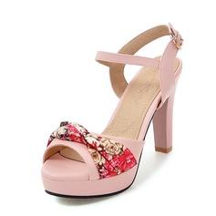 Donna Similpelle Tacco spesso Stiletto Piattaforma con Fiocco in raso scarpe