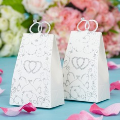 Double Heart Handbag shaped Favor Boxes