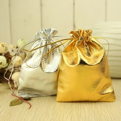 Metallic Drawstring Favor Bags