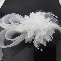 Ladies Special Net Yarn/Feather Hats