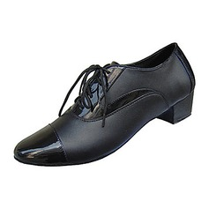 Men's Real Leather Heels Latin Belly Ballroom Practice Dance Shoes