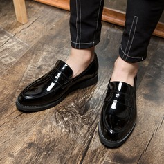 Mannen Patent Leather Casual Loafers voor heren