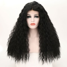 Curly Synthetic Hair Lace Front Wigs 340g