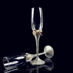 Beautiful Toasting Flutes With Rhinestone (Set Of 2)