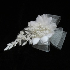 Glamourous Pearl/Lace/Tulle Headbands