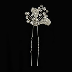 Lovely Alloy/Silver Plated Hairpins (Sold in single piece)