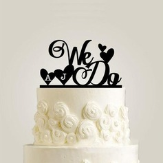 Personalized We Do Acrylic Cake Topper
