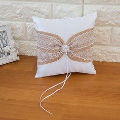 Lovely Ring Pillow in Satin With Ribbons/Sash