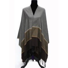 Color Block Oversized/Shawls Poncho (Clothes can be worn on both sides)