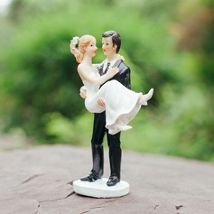 Bride And Groom Figurine Resin Cake Topper
