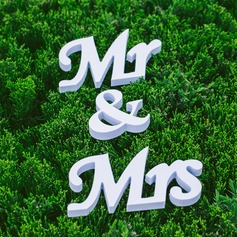 "Decorative Accessories PVC ""Mr. & Mrs."" Pretty Letter Wedding Decorations"