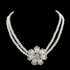 Beautiful Pearl/Rhinestones Ladies' Necklaces