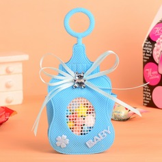 Baby Bear Bottle shaped Favor Bags With Bow