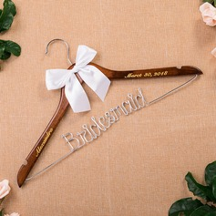 Bridesmaid Gifts - Personalized Beautiful Classic Wooden Hanger (256176243)
