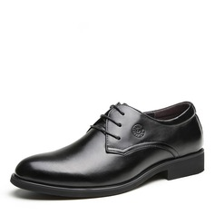 Мужская натуральня кожа шнуровка дерби Платья Men's Oxfords