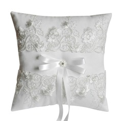 Elegant Ring Pillow in Satin With Bow